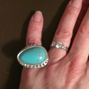 Lia Sophia Turquoise ring